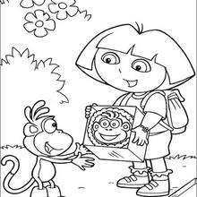 Un pastel para Botas - Dibujos para Colorear y Pintar - Dibujos para colorear PERSONAJES - PERSONAJES TV para colorear - Dora y sus amigos para colorear