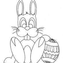 Dibujo para colorear : Conejito de Pascua
