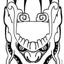 Dibujo para colorear : Una máscara
