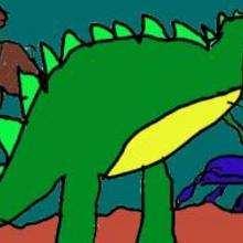 Tiranosaurio - Dibujar Dibujos - Dibujos de NIÑOS - Dibujos de ANIMALES - Dibujos de  animales por ORDENADOR