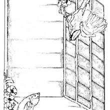 Dibujo de una casita de pájaros - Dibujos para Colorear y Pintar - Dibujos para colorear ANIMALES - Dibujos PAJAROS para colorear - Dibujos para pintar PAJAROS