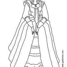 Una princesa - Dibujos para Colorear y Pintar - Dibujos de PRINCESAS para colorear - Dibujos para colorear PRINCESAS gratis