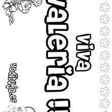 VALERIA colorear nombres niñas - Dibujos para Colorear y Pintar - Dibujos para colorear NOMBRES - Dibujos para colorear NOMBRES NIÑAS