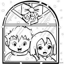la ventana de navidad