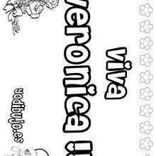 VERONICA colorear nombres niñas - Dibujos para Colorear y Pintar - Dibujos para colorear NOMBRES - Dibujos para colorear NOMBRES NIÑAS