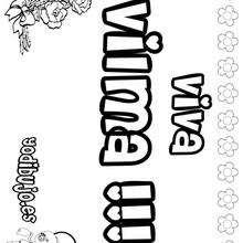 VILMA colorear nombres niñas - Dibujos para Colorear y Pintar - Dibujos para colorear NOMBRES - Dibujos para colorear NOMBRES NIÑAS