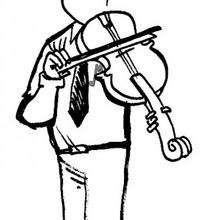Viola - Dibujos para Colorear y Pintar - Dibujos infantiles para colorear - Instrumentos de Música: dibujos para colorear