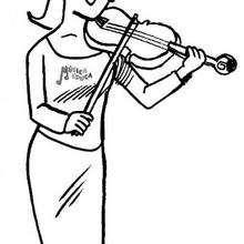 Violin - Dibujos para Colorear y Pintar - Dibujos infantiles para colorear - Instrumentos de Música: dibujos para colorear