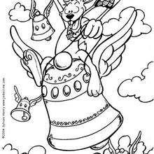 Las campanas - Dibujos para Colorear y Pintar - Dibujos para colorear FIESTAS - Dibujos para colorear PASCUA - Dibujos para colorear gratis PASCUA