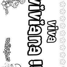 VIVIANA colorear nombres niñas - Dibujos para Colorear y Pintar - Dibujos para colorear NOMBRES - Dibujos para colorear NOMBRES NIÑAS