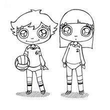Dibujos de jugadora de voleibol - Dibujos para Colorear y Pintar - Dibujos para colorear DEPORTES - Dibujos de VOLEIBOL para colorear