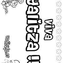 YALITZA colorear nombres niñas - Dibujos para Colorear y Pintar - Dibujos para colorear NOMBRES - Dibujos para colorear NOMBRES NIÑAS