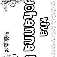 YOHANNA colorear nombres niñas - Dibujos para Colorear y Pintar - Dibujos para colorear NOMBRES - Dibujos para colorear NOMBRES NIÑAS