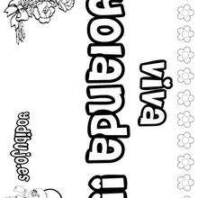 YOLANDA colorear nombres niñas - Dibujos para Colorear y Pintar - Dibujos para colorear NOMBRES - Dibujos para colorear NOMBRES NIÑAS