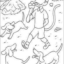 Zephir chupa un helado - Dibujos para Colorear y Pintar - Dibujos para colorear PERSONAJES - PERSONAJES ANIME para colorear - Babar el elefante para pintar