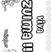 ZULMA colorear nombres niñas - Dibujos para Colorear y Pintar - Dibujos para colorear NOMBRES - Dibujos para colorear NOMBRES NIÑAS