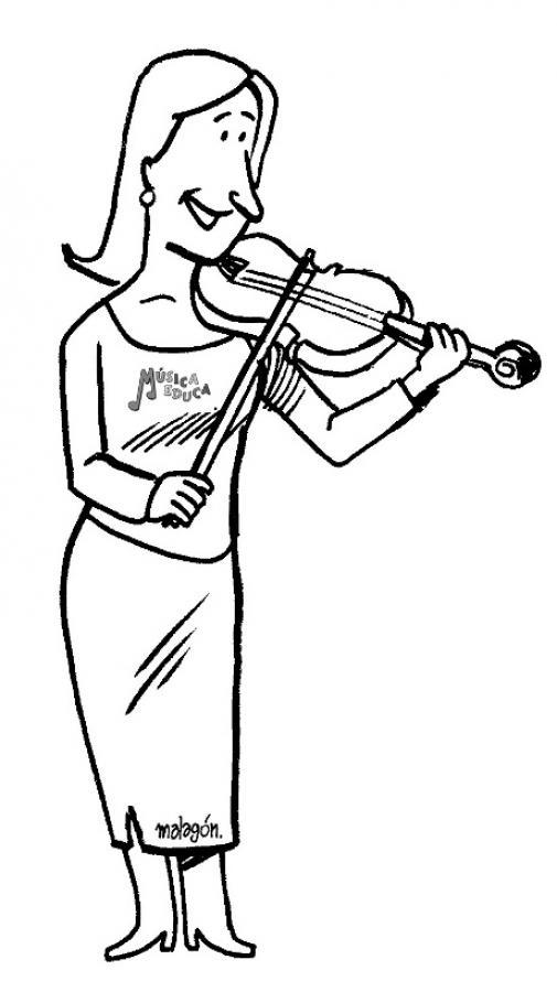 Dibujos para colorear violin - es.hellokids.com